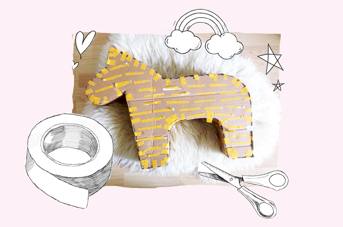 Einhorn-Pinata-selber-machen-Basteln-mit-Kindern-Kindergeburtstag-Einhorn-Geburtstag-Party-kleine-Geschichten03