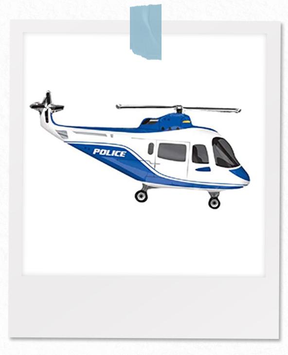 Helikopter-Polizei