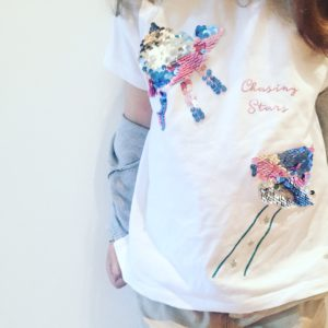 Paillettenhemd- Tshirt mit Pailletten - Kindergarten Trend - T-shirt - Sommer - Kinder