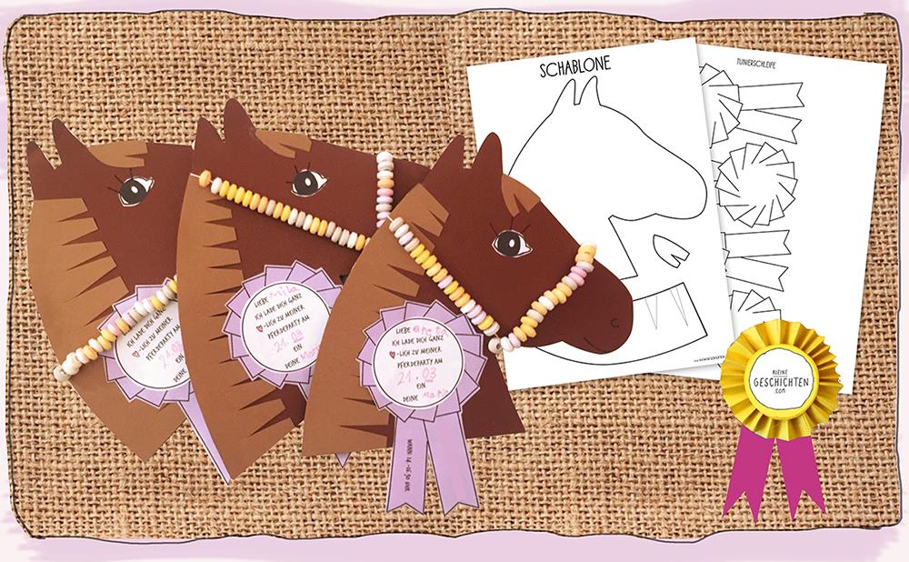 Pferde Party Einladungskarten
