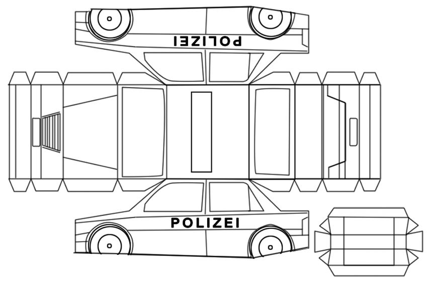 Polizeiauto basteln - Polizei Party - Polizeigeburtstag - Motto Feier Kinder - Polizeiauto DIY - kleine Geschichten