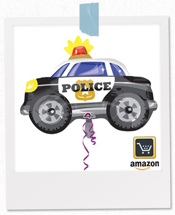 Polizeiautoluftballon