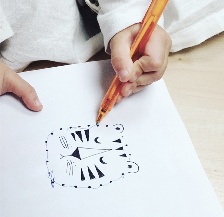 Zeichnen lernen, Kinder beschäftigen, Punkt für Punkt verbinden, Basteln und Lernen mit Kindern