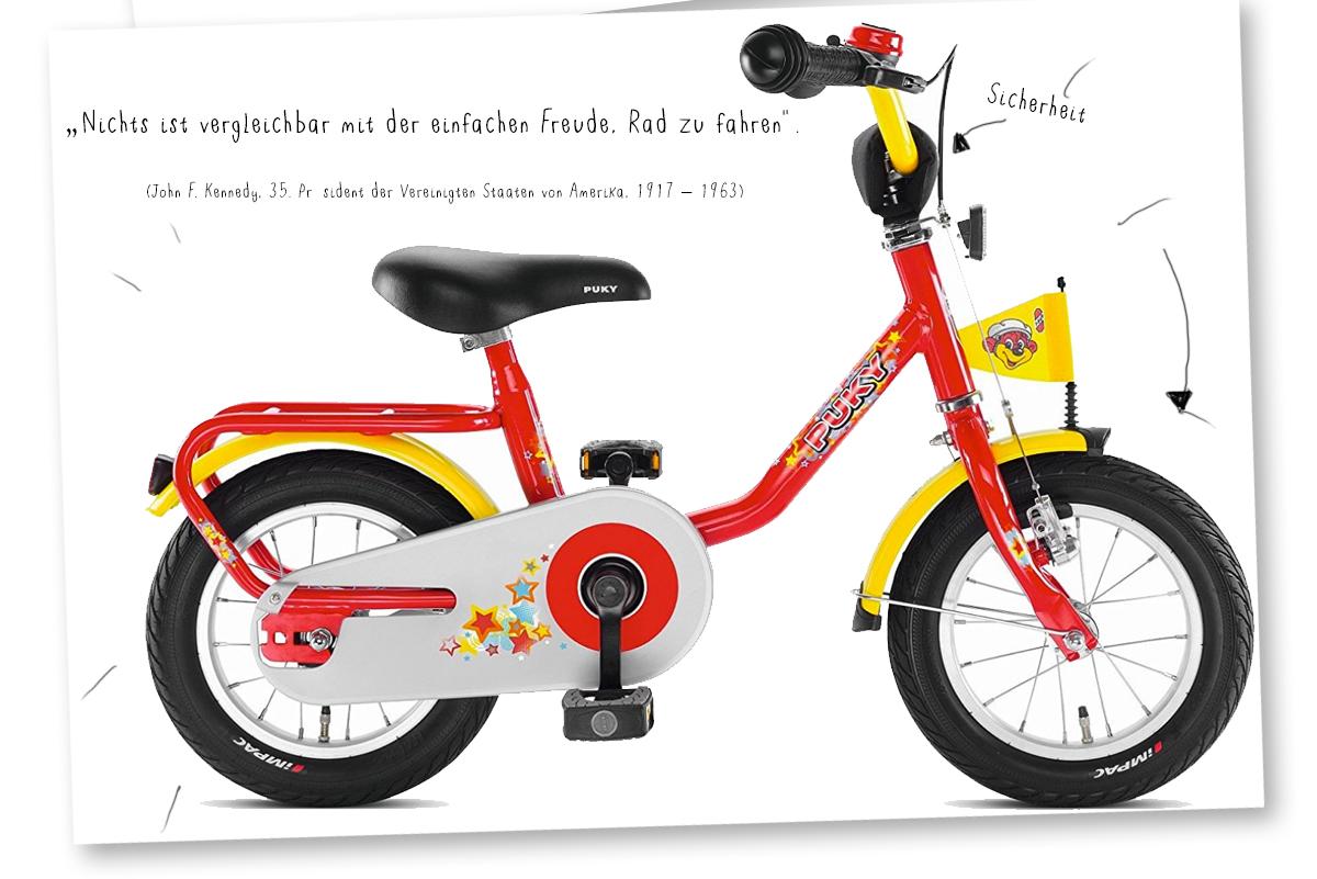 Das erste Fahrrad - ein Stück mehr Freiheit - welches Kinder Fahrrad kaufen - kleine Geschichten