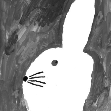 Kinderzimmer- Poster - Hase mit kleinem Hut