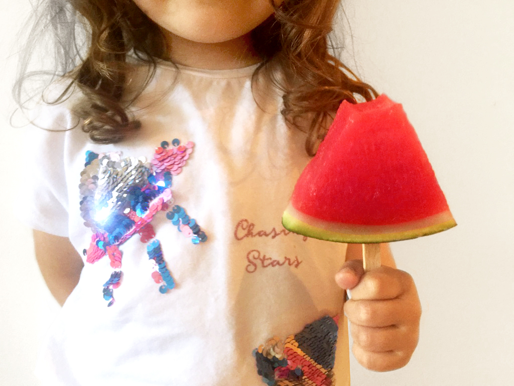 Lustige Kindersnacks - Sommer Snacks -Melone am Stiel - Kinderparty - Snacks