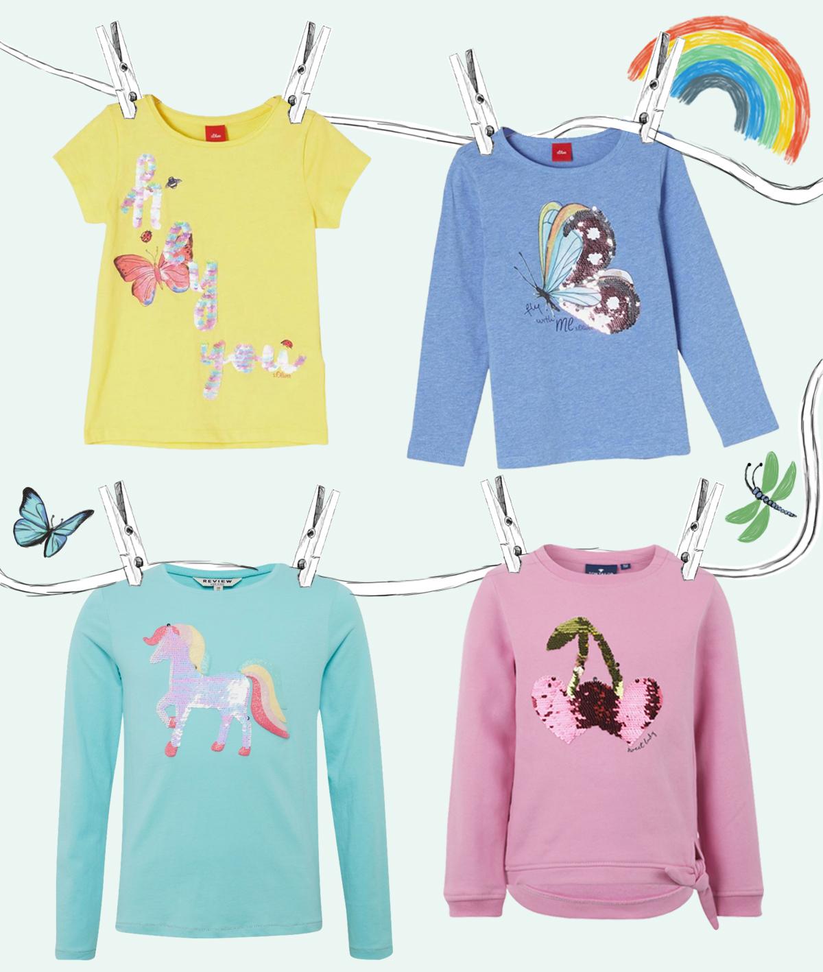 Outfits für Kindergarten Kinder - Kindergarten Trend - Wendepailletten - Kleine Geschichten