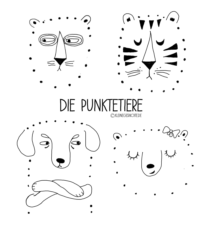 Die Punktetiere, zum ausdrucken, Malen nach Punkten, Malen, Zeichnen, Basteln mit Kidern, Free Printables